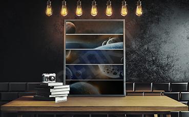 Plakat planety w przybliżeniu