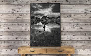Plakat pochmurny krajobraz