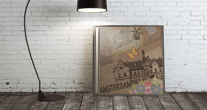Plakat pocztówka z Holandii