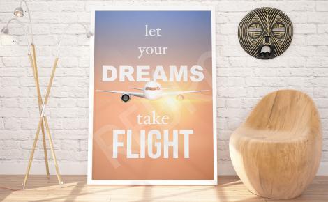 Plakat podróż samolotem