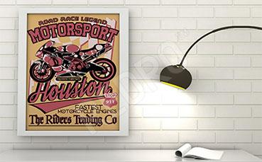 Plakat pojazd motocykl