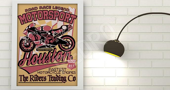 Plakat pojazd: motocykl