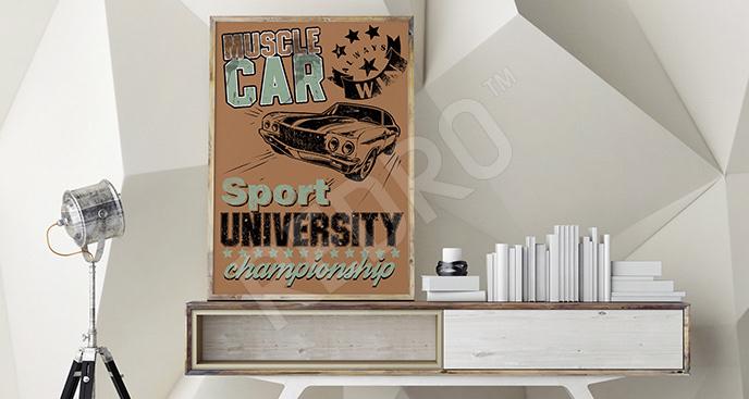 Plakat pojazd sportowy