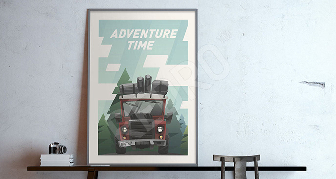 Plakat pojazd terenowy