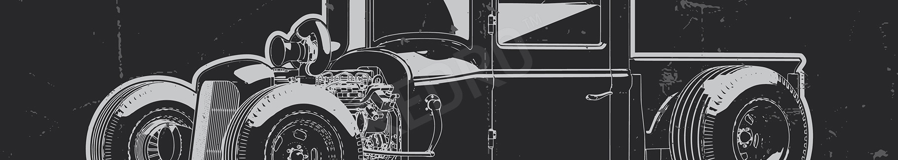 Plakat pojazd vintage