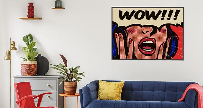 Plakat pop-art z kobietą