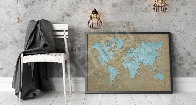 Plakat postarzane kontynenty