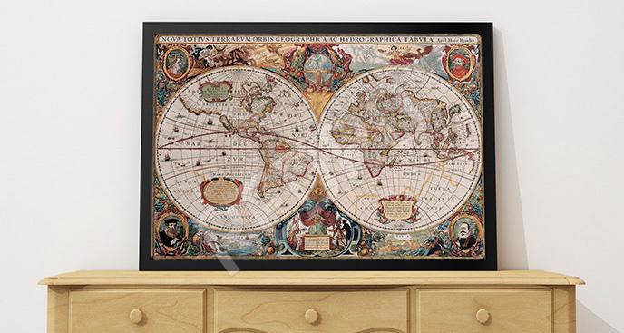 Plakat projekt starej mapy