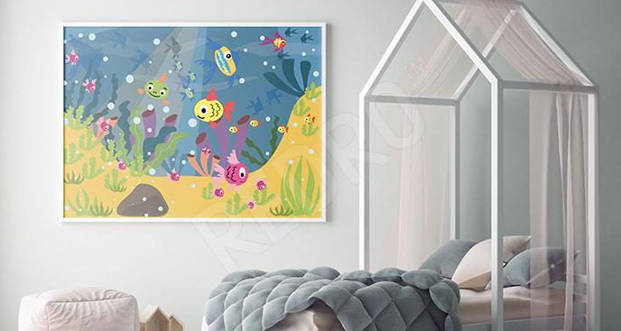 Plakat rafa koralowa dla dzieci