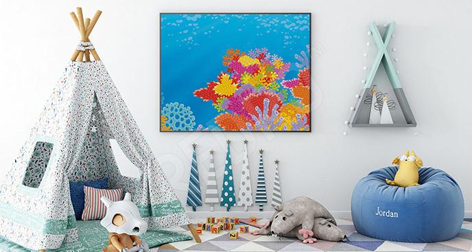 Plakat rafa koralowa do pokoju dziecka