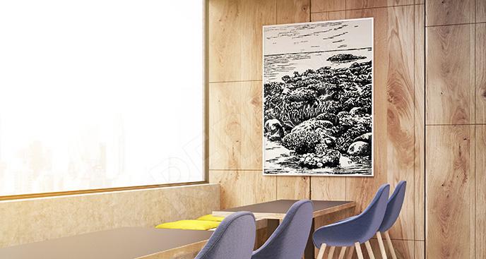 Plakat rafa koralowa vintage
