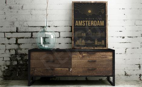 Plakat reklamujący Amsterdam