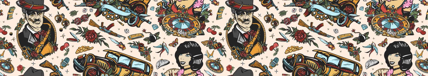 Plakat retro – amerykańskie kasyno