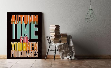 Plakat retro kolorowe napisy