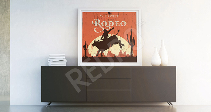 Plakat retro: rodeo
