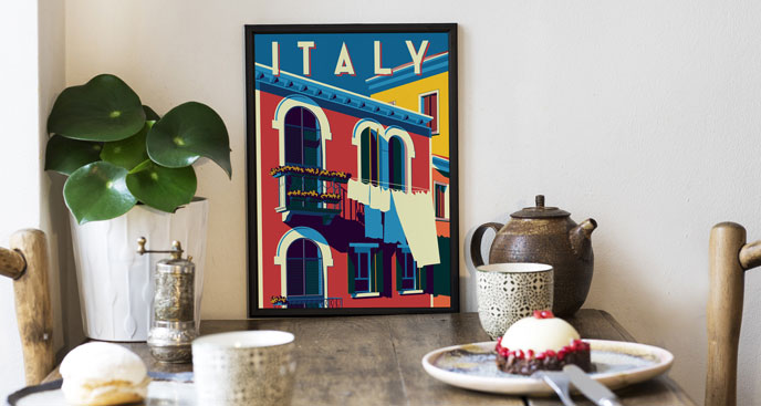 Plakat retro – słoneczne Włochy