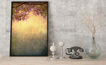 Plakat roślinny motyw vintage