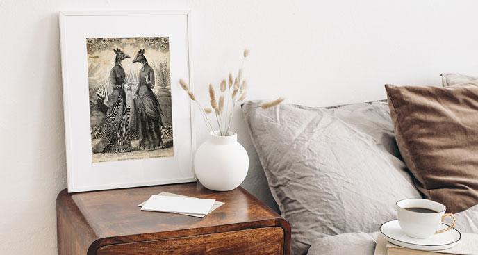 Plakat rozmowa kobiet – żyraf