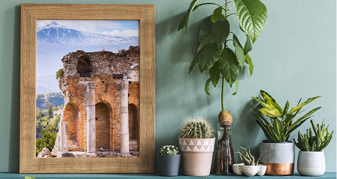 Plakat ruiny greckiego teatru