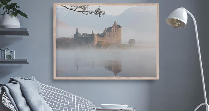 Plakat ruiny w Szkocji