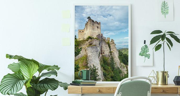 Plakat ruiny zamku