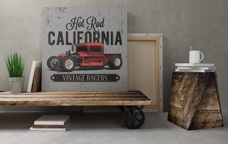 Plakat samochód ciężarowy