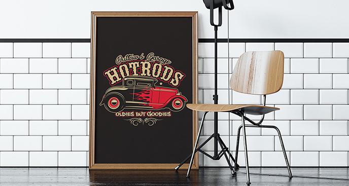 Plakat samochód Hot Rod