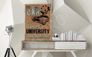 Plakat samochód sportowy