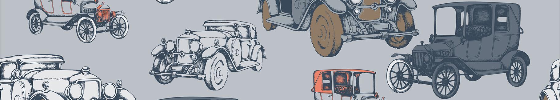 Plakat samochody vintage