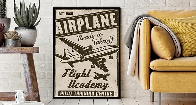 Plakat samolot vintage