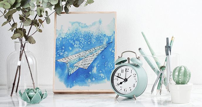 Plakat samolot z papieru