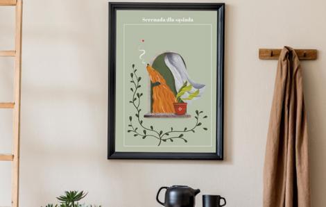 Plakat Serenada dla sąsiada