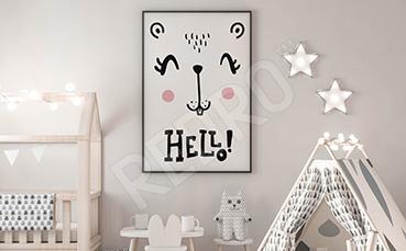 Plakat skandynawski dla dzieci