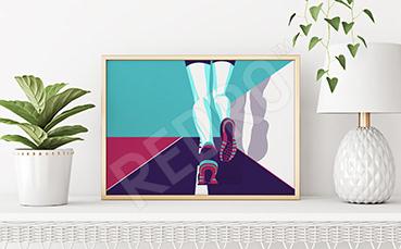 Plakat sport dla biegacza