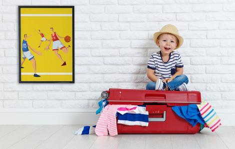 Plakat sport do pokoju dziecka
