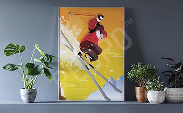 Plakat sport: narciarstwo
