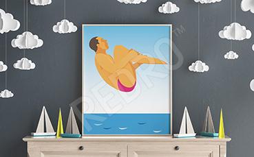 Plakat sport: skok do wody