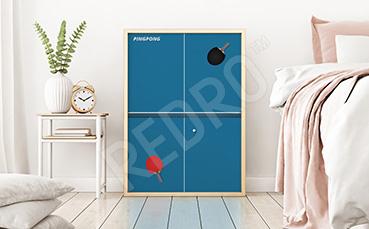 Plakat sportowy ping-pong