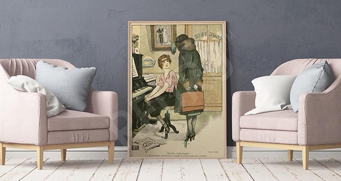 Plakat spotkanie przy pianinie