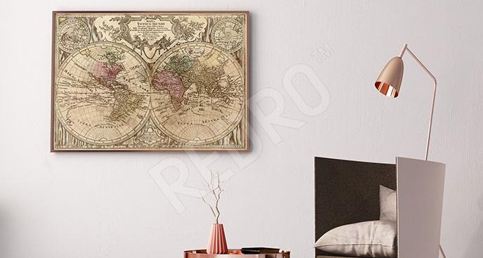 Plakat stara mapa do biura