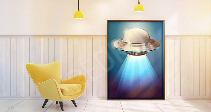 Plakat statek UFO