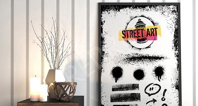Plakat street art dla nastolatka