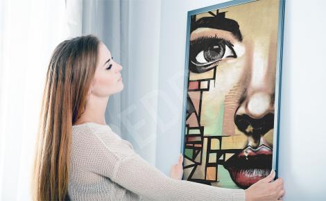 Plakat street art kobieta