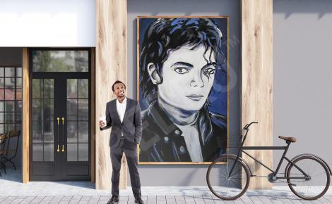 Plakat street art Michael Jackson