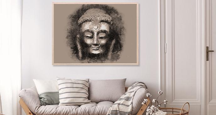 Plakat styl Buddyjski