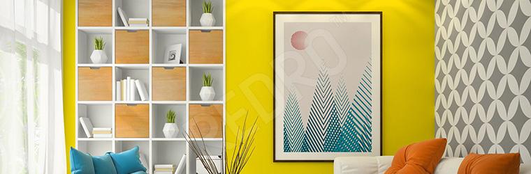Plakat styl skandynawski do salonu