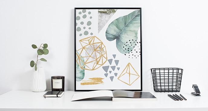Plakat styl skandynawski: geometria