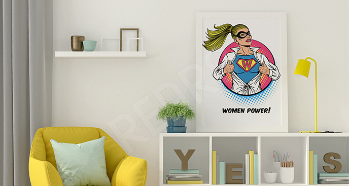 Plakat superwoman