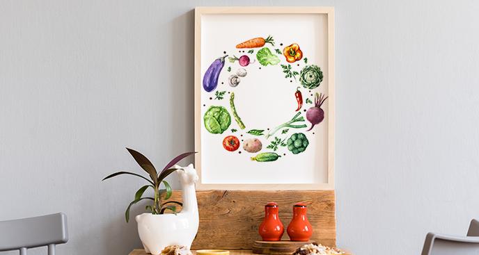 Plakat świeże warzywa