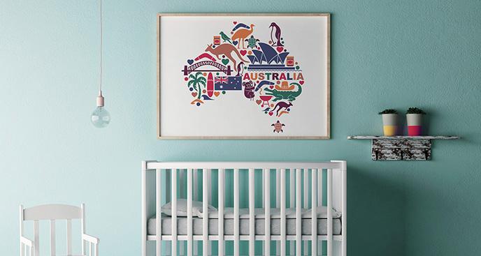 Plakat symbole Australii